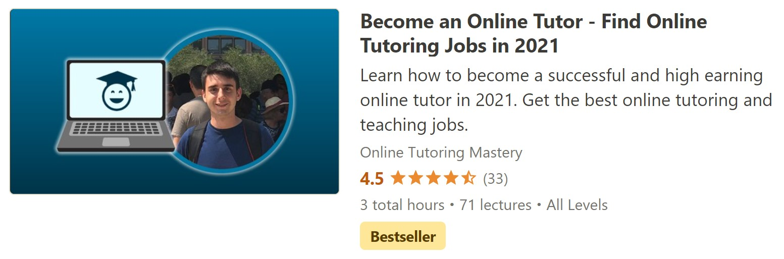 Online Tutoring Udemy Course Header